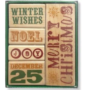 COPY - NWT Christmas Rubber Stamp Set of 5
